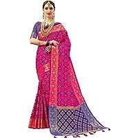 EthnicJunction Women's Art Silk Saree With Blouse Piece