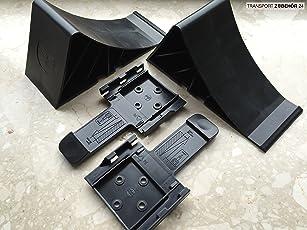 Komplett-Set: Unterlegkeile incl. Halter 2 Stück Bremskeil Anhänger Keile 1,6-2,0 To