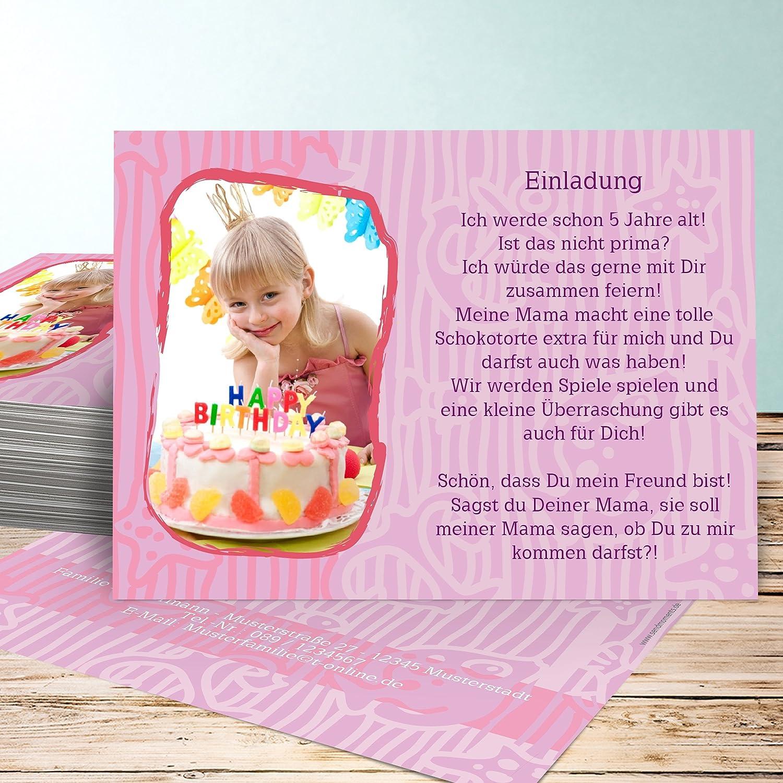 Originelle Einladungskarten Kindergeburtstag, Geburtstagstorte 15 Karten,  Horizontal Einfach 148x105 Inkl. Weiße Umschläge, Lila: Amazon.de: Küche U0026  ...