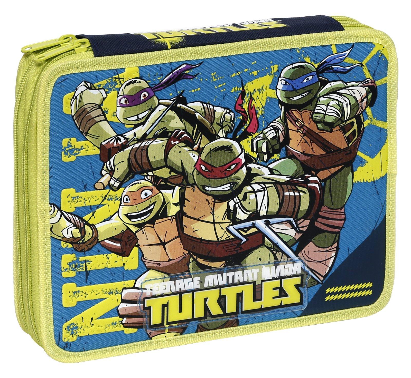 Giochi Preziosi – Estuche de Las Tortugas Ninja con Colores, marcadores y Accesorios