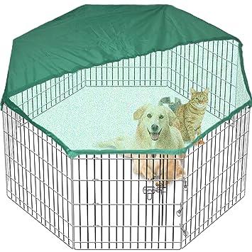 Pet PlayPen Dog Puppy Cage Folding Run Fence Garden Crate Indoor ...