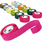 Bodhi & Digby Vet Wrap for Dogs - 2.5 Centimetres Wide x 4.5 Metres Long. 12 Rolls of Self Adhesive Bandage in Fun…