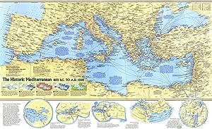 Cartina Storica Mediterraneo.National Geographic Mappa Da Parete Storica Mediterranea 800 A C A D C 1500 93 X 57 1 Cm Laminata Amazon It Cancelleria E Prodotti Per Ufficio