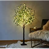 LITBLOOM Beleuchteter Baum, 160 l olivgrün