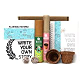 bioQ Mini Planting Stationery Combo Birthday Gift kit for Kids | Eco Friendly Kit with 2 Mini Planting Sets | Combo : 2 Plant