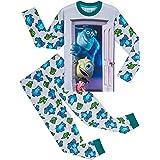Disney Pijama para niños con motivo de Monstruos, S.A., 2 piezas, Pijama de algodón suave para niños con personajes Sully, Bo