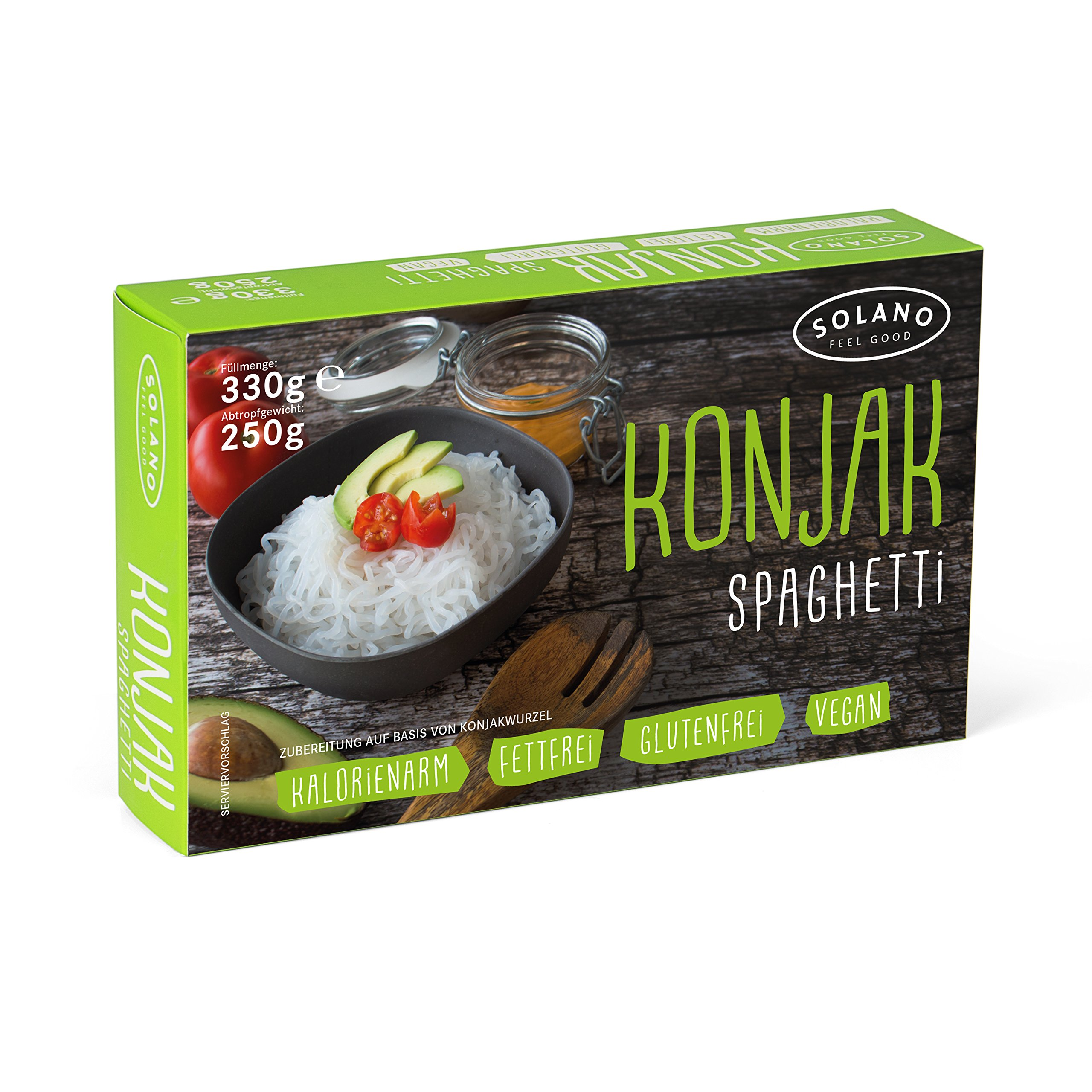 Solano Solano Konjak Noodles, Konjak Spaghetti Made from Konjak Root, Low Carb Pasta, Shirataki Noodles are Vegan, Fat-Free, Gluten-Free, and Suitable for Diets