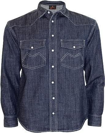 True Face Mens Denim Shirt Fabric Casual Cotton Top Regular Fit Long Sleeve Button Down
