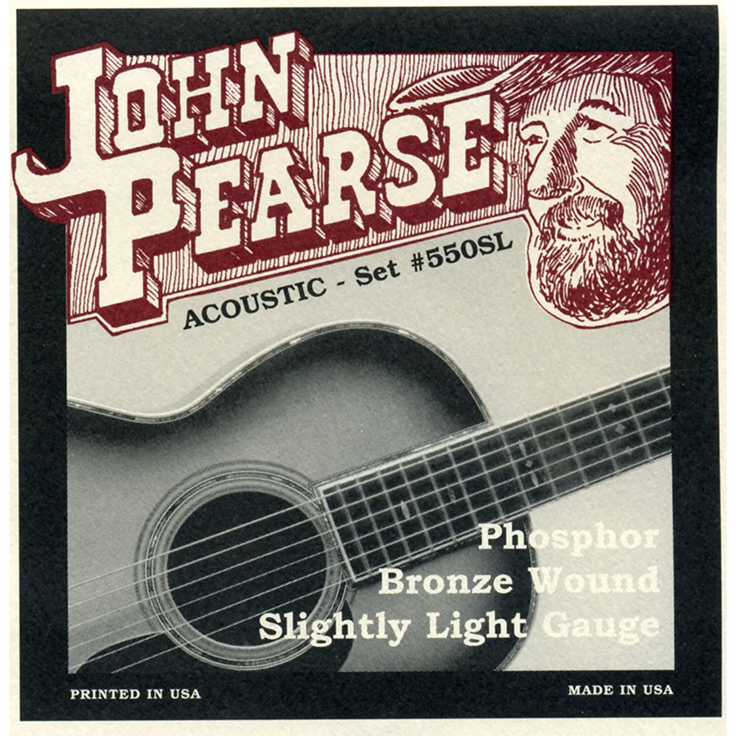john pearse strings light guitar set phosphor bronze