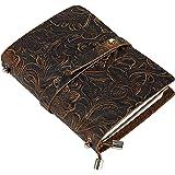 Vintage Leder Notizbuch A6, UBaymax Nachfüllbares Handgefertigt Klein Reise Tagebuch Bullet Journal, Valentinstag Geburtstag