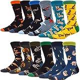 MAKABO Men's Dress Socks Colorful Funky Patterned Cotton Novelty Casual Crew Socks