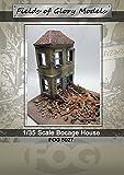 Maßstab 1/35~ Bocage-Haus für Diorama –Keramik + Kunstharz, für Modellbau-Set im Militär-Stil