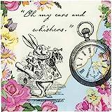 Talking Tables servilletas con ilustraciones de Alice en el país de las maravillas.'Truly Alice.' Papel.
