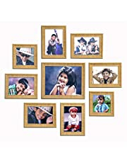 "Ajanta Royal Set of 9 Individual Photo Frames (6-5""x7"", 2-5""x5"", 1-8""x10"" Inch) : A-90"