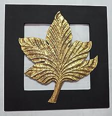 Aalokik Art Indian Maple Leaf Wall Art