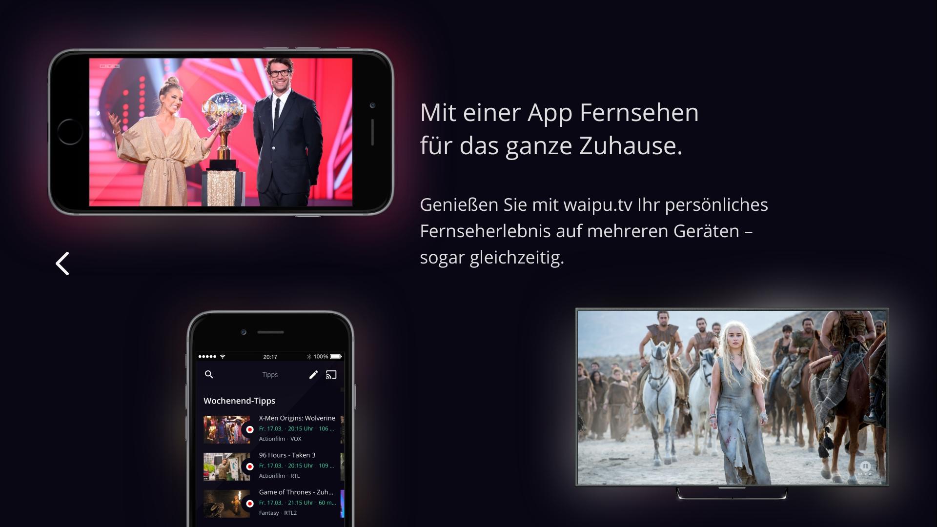waipu.tv – Live-Fernsehen auf Fire TV Screenshot