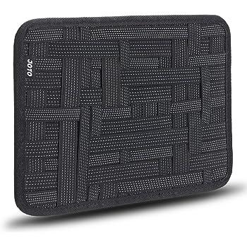 Elettronica Organizzatore, JOTO Travel Gear gestione Organizzare Bag per l'elettronica Accessori Attrezzi Disco rigido Scheda di memoria Cavi Flash Drive Kit di alimentazione Cosmetics Brush Cura personale - Grande (Nero)