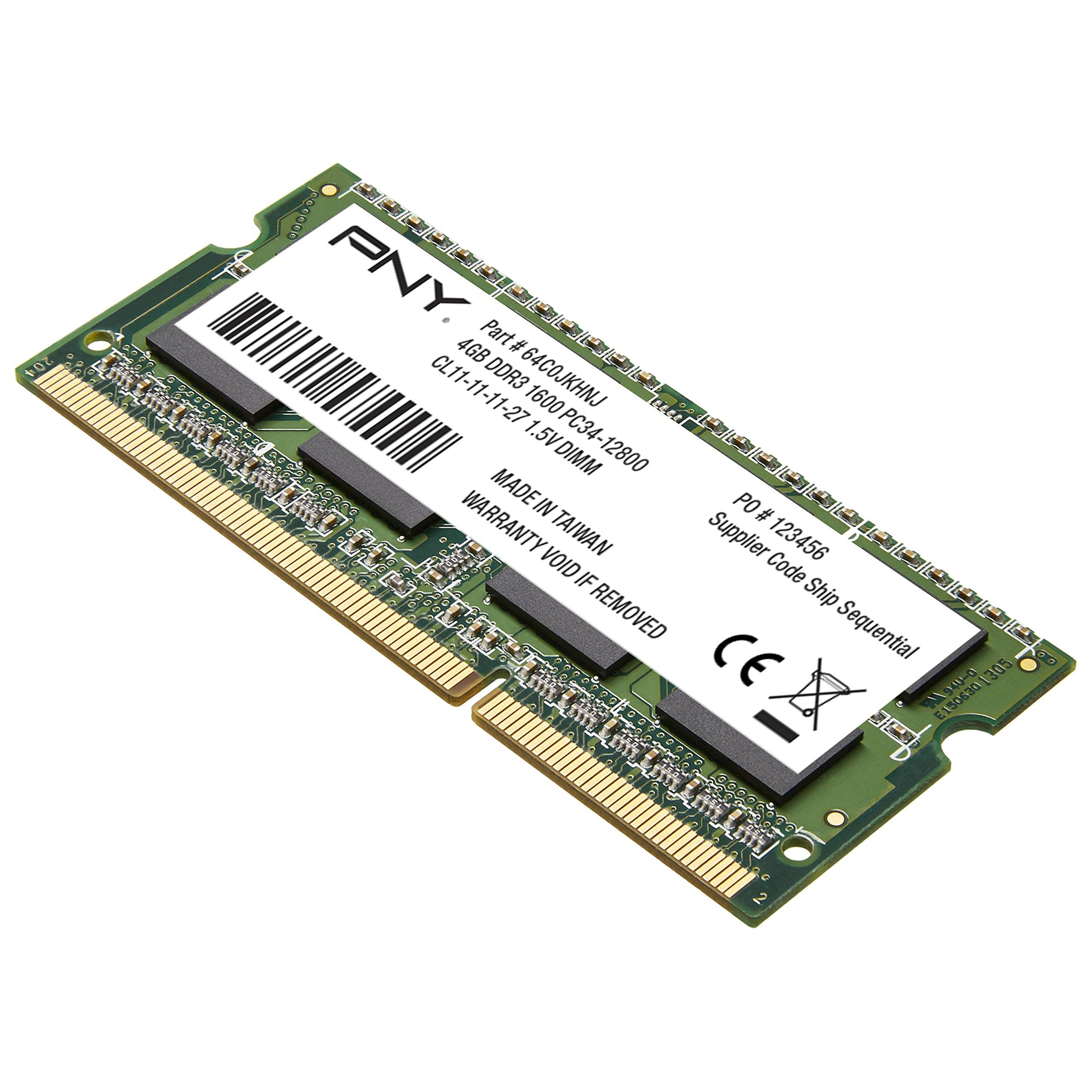 PNY 4GB PC3-12800 1600MHz DDR3 4GB DDR3 1600MHz memoria