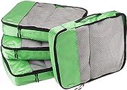 AmazonBasics Große Kleidertaschen, 4 Stück, Grün