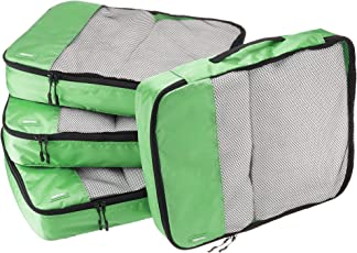 AmazonBasics Packing Cubes/Travel Pouch/Travel Organizer- Large, Green