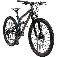 BIKESTAR Fully Aluminium Mountainbike Shimano 21 Gang Schaltung, Scheibenbremse 26, 27.5, 29 Zoll Reifen | 16, 16.5, 17…