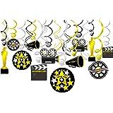Konsait Colgante Decoraciones de Hollywood Fiesta película Remolino serpentinas Adornos de espirales decoración para Hollywoo