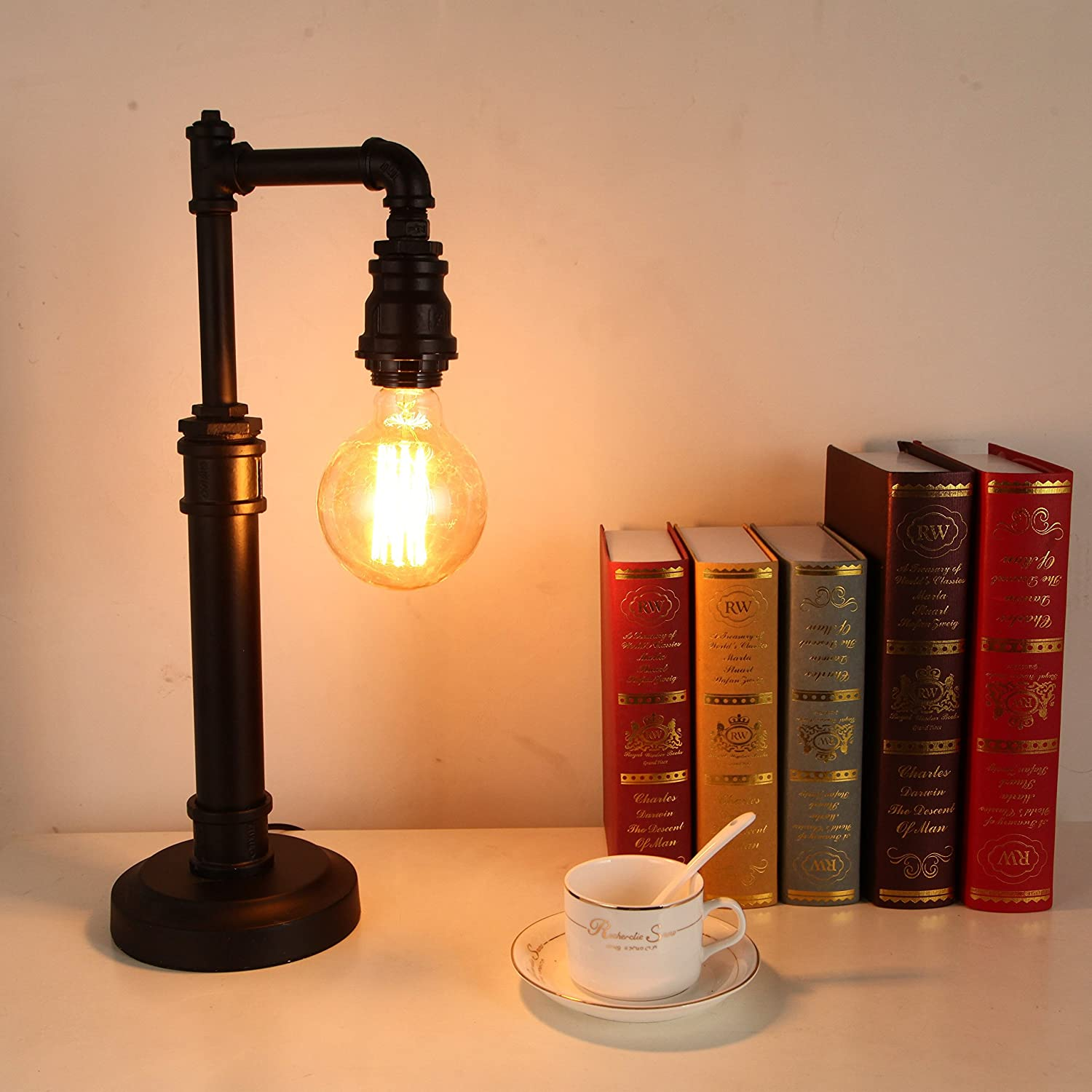 steampunk lighting.  lighting onepre vintage industrial steampunk table lamp 1 light water pipe rustic  bedside desk lamp amazoncouk lighting throughout