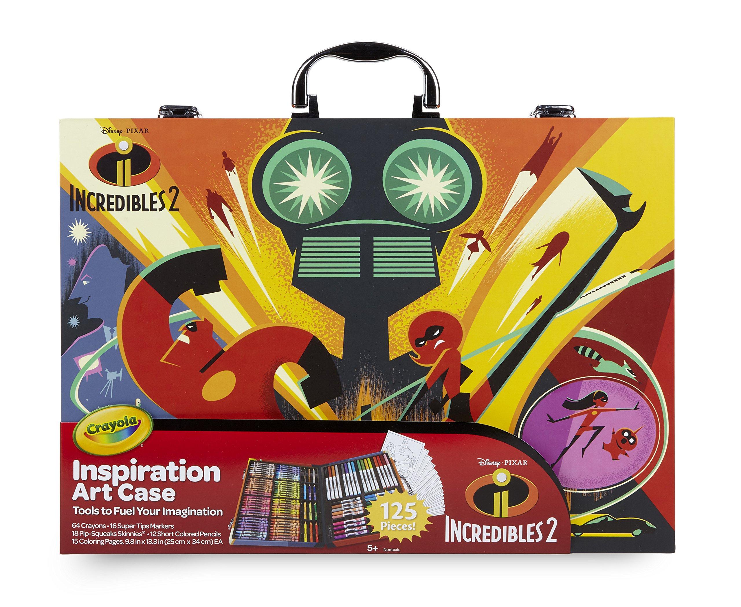 Crayola Disney Los Increibles 2 Maletín Del Artista Para Colorear Y Dibujo Para Juegos Y Regalo Color Surtidos 120 Piezas Art Craft 04 3315