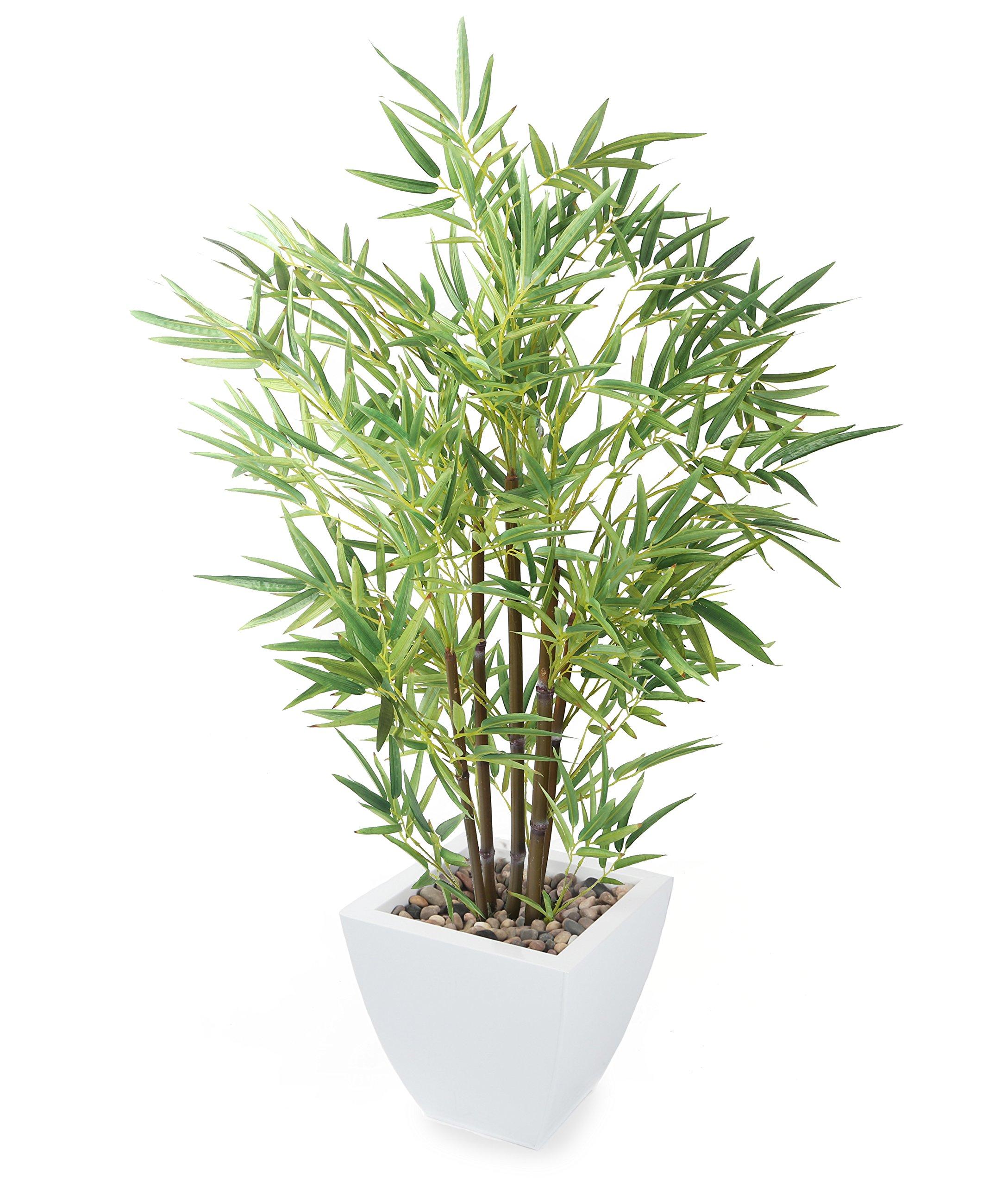 Closer2Nature P091W – Bambú artificial sin maceta, 106 cm