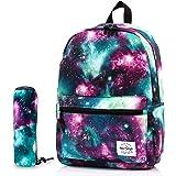 TRENDYMAX Galaxy-Rucksack für Schülerinnen & Schüler, strapazierfähige und niedliche Büchertasche mit 7 geräumigen Taschen, R