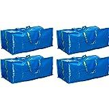 Ikea Lot de 4 sacs de rangement Bleu 901.491.48 Frakta