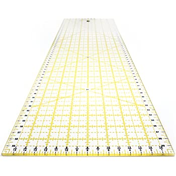 Laser Cut Acrylic Quilters Ruler with Patented Double Colored Grid Lines for Easy Precision Cutting Sewing /& Crafts ARTEZA Quilting Ruler Black /& Lime Green 8.5 Wide x 24 Long for Quilting