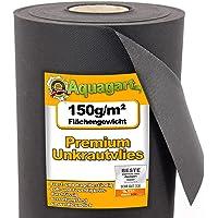 6m² Gartenvlies Unkrautvlies Unkrautfolie Mulchfolie Mulchvlies 150g 1,2m breit + 10 Erdanker Gratis