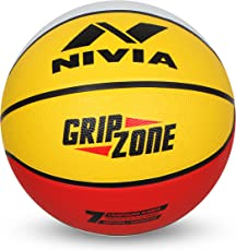 Nivia Rubber Grip Zone Basketball, Adult Size 7 (Multicolour)