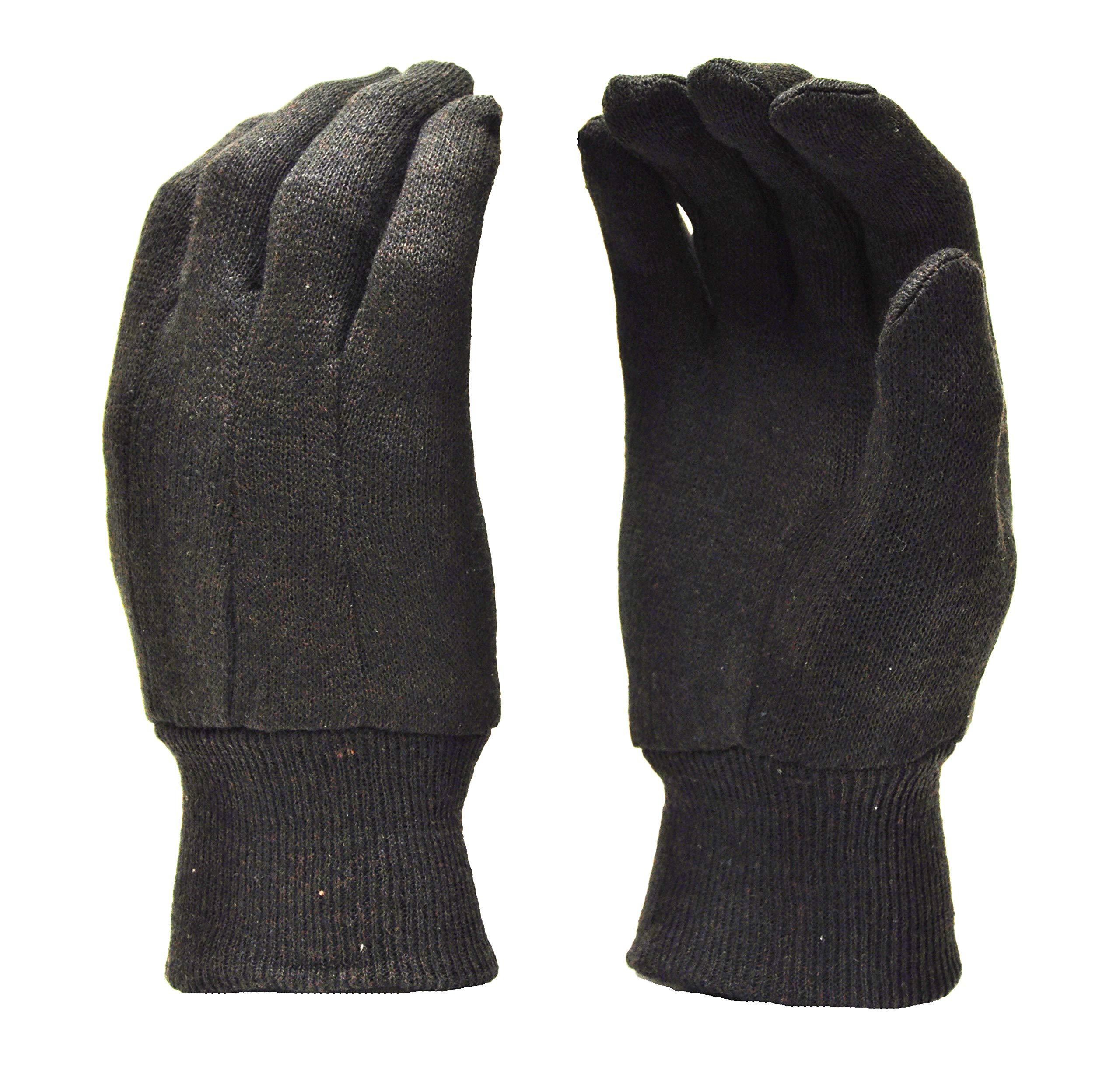 G & F Regular Marron Jersey Gants, grande, marron, 4408-25