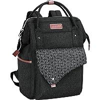 KROSER Rucksack Damen für Schule Laptop Rucksack 15,6 Zoll(39,6cm) Schulrucksack Stylischer Daypack wasserdichte mit USB…