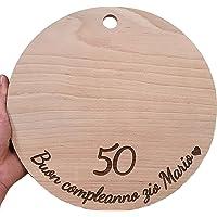 Tagliere in legno personalizzato 30 cm - perfetto per contatto con alimenti - Made in Italy