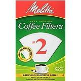 فلاتر قهوة مخروطية #2 من ميليتا، أبيض، 100 قطعة