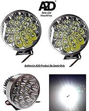 A2D 18 LED Super 6000k Diamond Cut Reflector Cree LED Car Fog Light Lamp Assembly Set of 2 White-Maruti Suzuki Zen Estilo Type 2