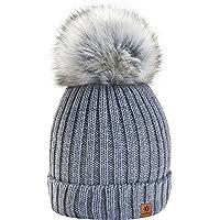 4sold Winter Cristallo Più Grande Pelliccia Pom Pom invernale di lana Berretto Delle Signore Delle Donne Beanie hat Pera…