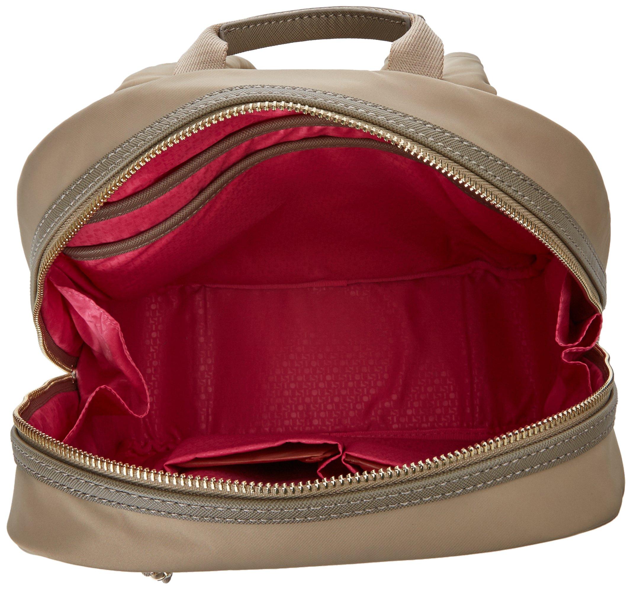 91jKTAvtfoL - Tous 695810088, Bolso mochila para Mujer, Beige (Topo), 26x33x9.5 cm (W x H x L)