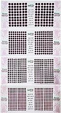 Roop Nikhar Face Stickers Plain Maroon Bindi Combo of 4 Pcs Plain Kumkum Bindis
