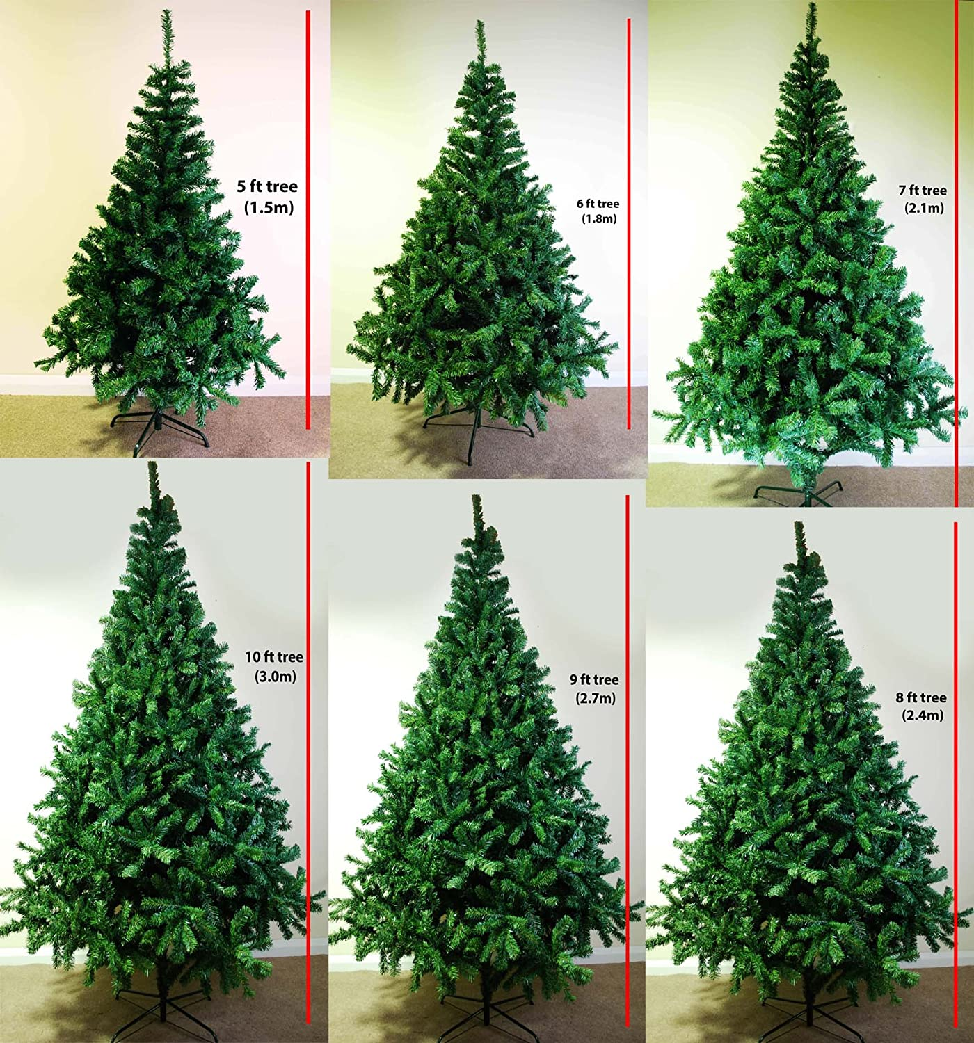 LIFETIME TREES *SALE* FANTASTIC DELUXE CHRISTMAS TREES V HIGH TIP ...