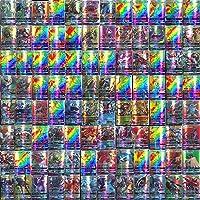 Sinwind Pokémon Cartes, Jeux De Cartes 100 Pcs Pokemon Cartes Style, 95GX + 5 Mega Trading Cards