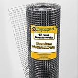 Aquagart® volièregaas, hazengaas, 15 m x 1 m, draadgaas, maaswijdte 12 mm, verzinkt gaas, robuust gelast gaas