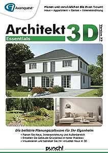 architekt 3d x9 essentials planen sie ihr k nftiges haus ihren garten ihre wohnung oder die. Black Bedroom Furniture Sets. Home Design Ideas