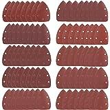 Schuurbladen 80 stuks klittenband-schuurdriehoek muis detail schuurpapier 5 gaten gesorteerd 40 60 80 100 120 180 240 320 400