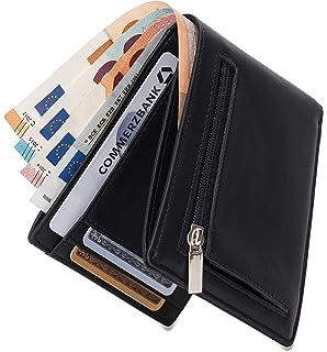 bbe88c1ffbfea Geldbörse mit Münzfach - TÜV geprüft RFID Schutz 13 Kartenfächer Davon 4  versteckte - Ideal als