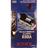 Video VHS VCR Cassette Tape Video Head Cleaner System Wet/Dry with Fluid
