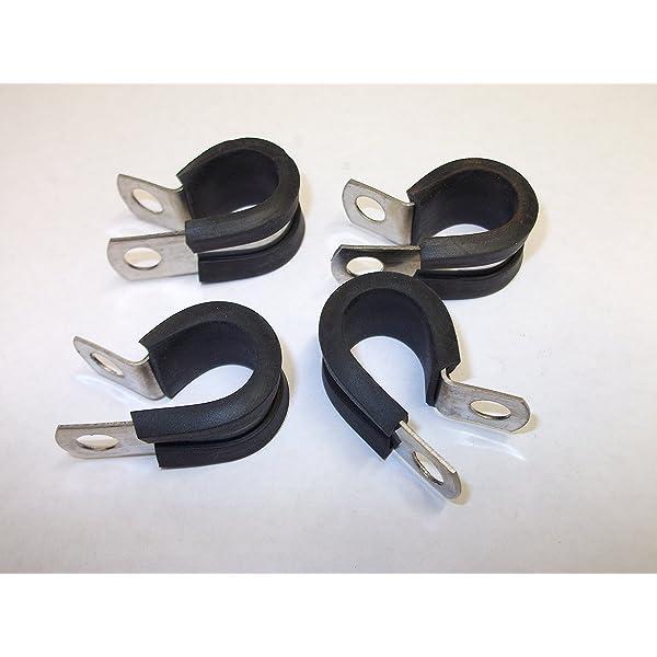 4 abrazaderas de metal de 40 mm de 1,5/8 pulgadas P Clips ...